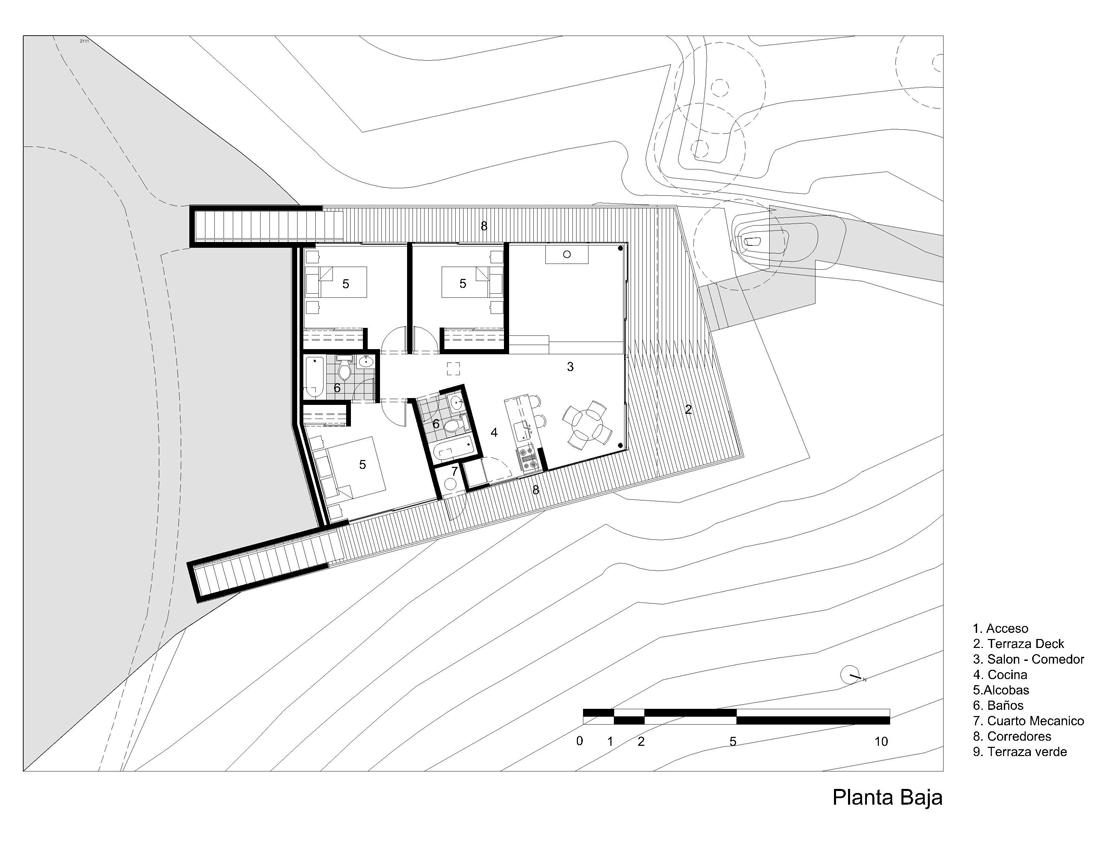 dibujos-refugio-1-01 shelter 01 ground plan