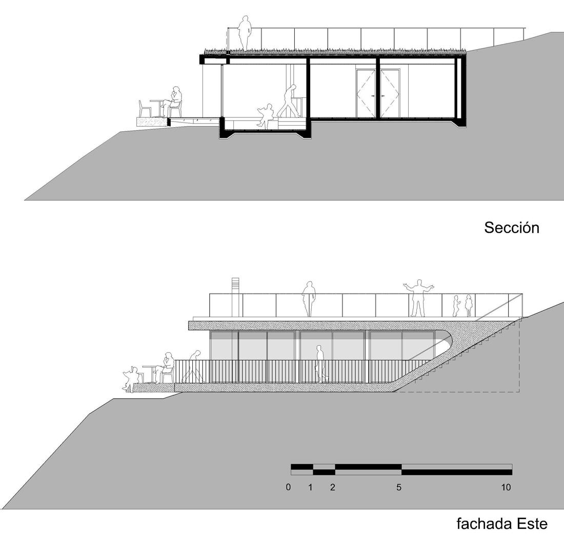 dibujos-refugio-1-03 shelter 01 section & elevation