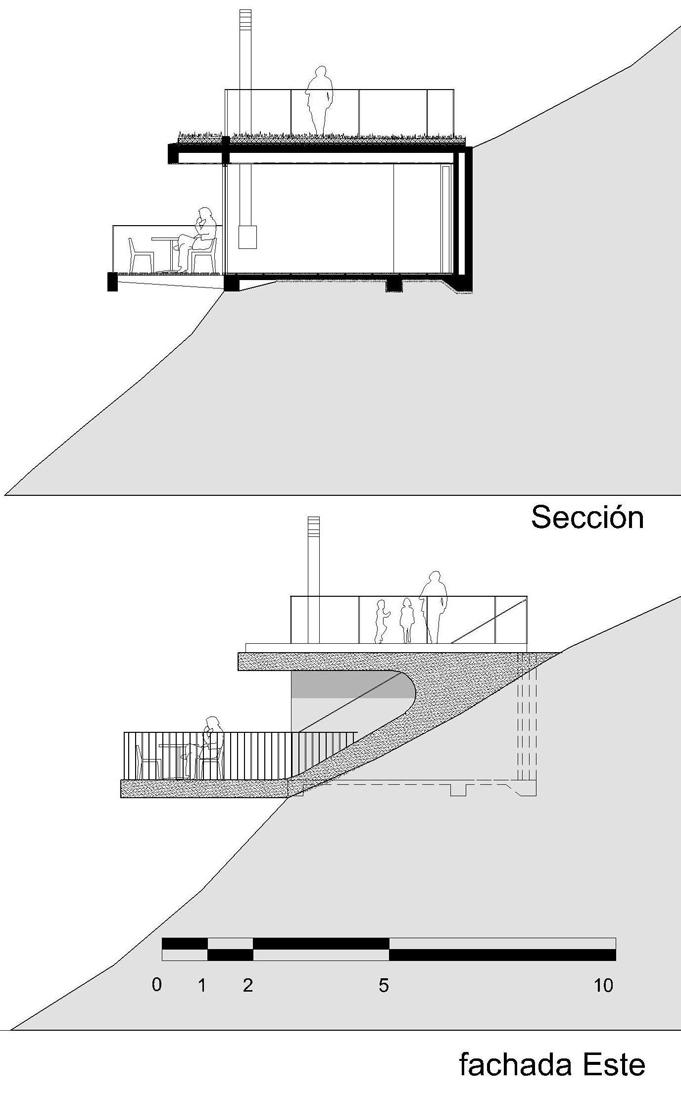 dibujos-refugio-2-03 shelter 02 section & elevation