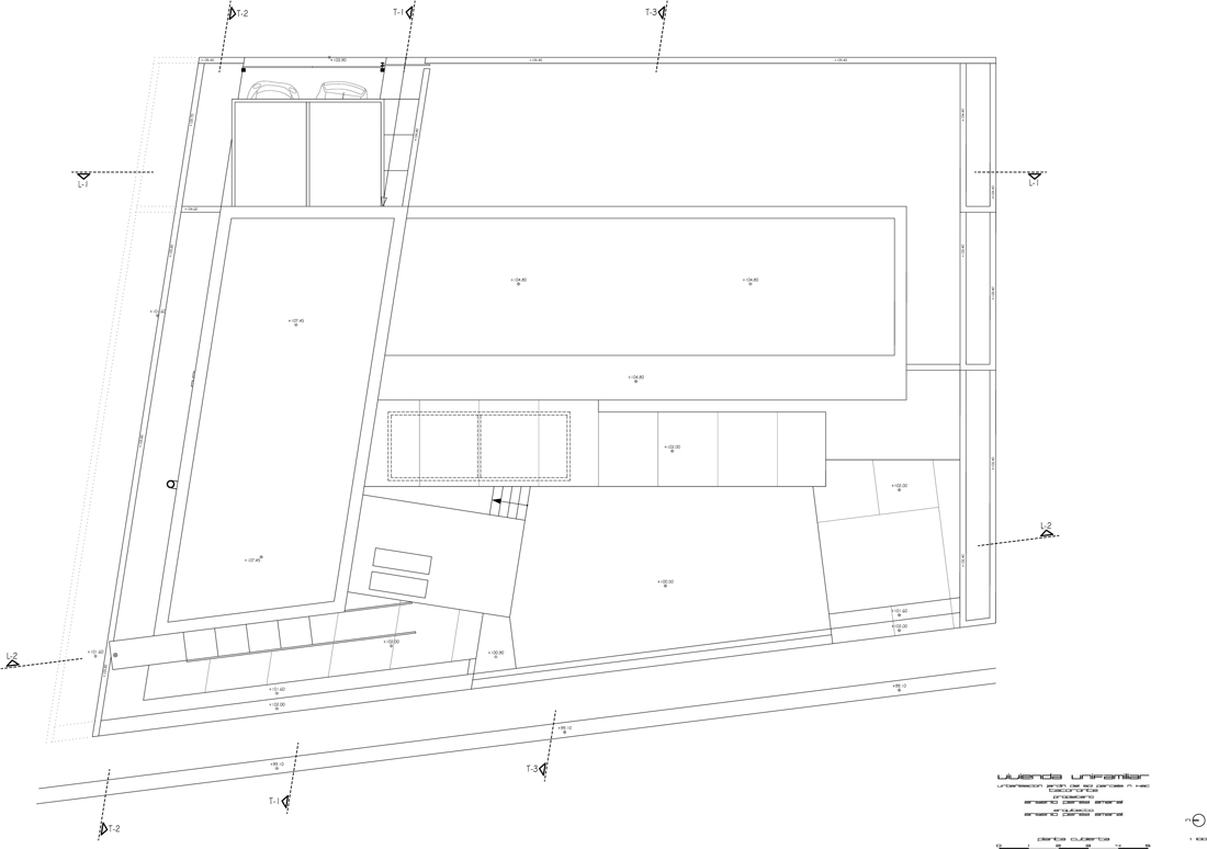 planta cubierta MATERIALES Y USOS (1) roof plan