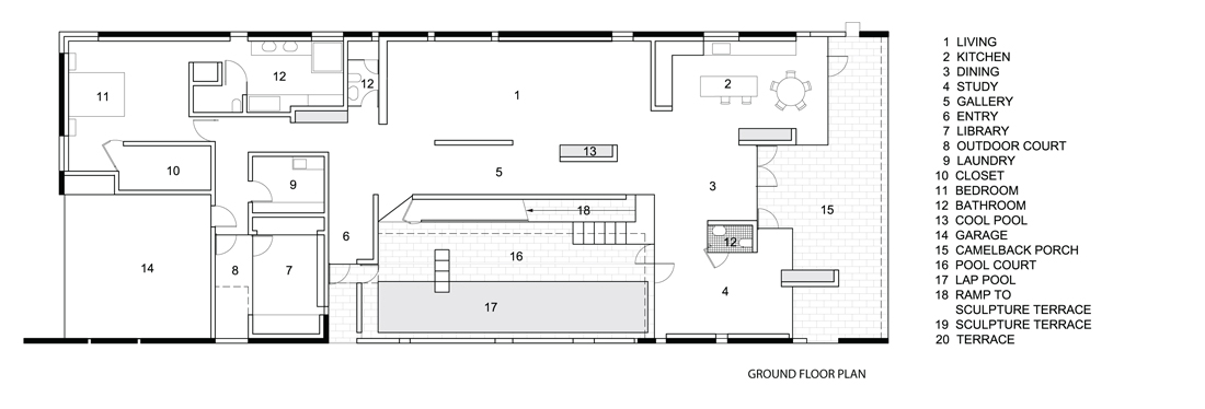 Planar House / Steven Holl Architects 1658792243_ground-floor-plan ...