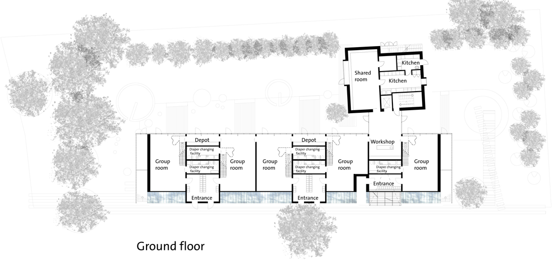 Architecture photography 776513546 ground floor plan 6616 for Small daycare floor plans