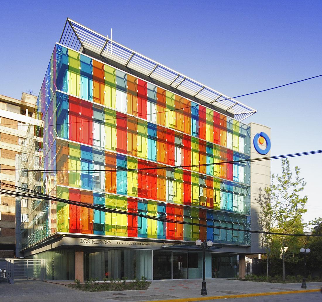 Santiago Famous Painted Building