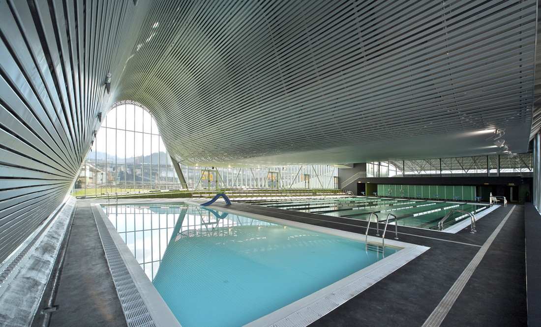 Sports and leisure centre acxt archdaily for Pool design london