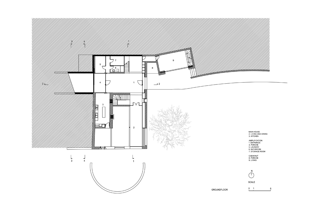 "New ""Cabaña"" & Accesses to a Country house / Hidalgo Hartmann"