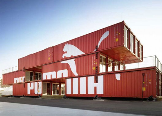 PUMA City, Shipping Container Store / LOT-EK via Arch Daily