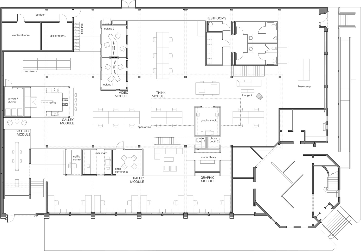 Commercial kitchen architectural plan afreakatheart for Floor plans architecture