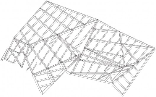 roof structure axo
