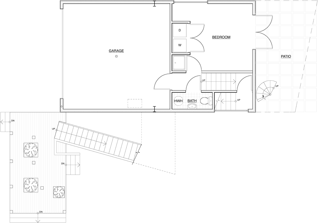 Architecture photography entwisle 1 garage level 11581 for Garage floor plans