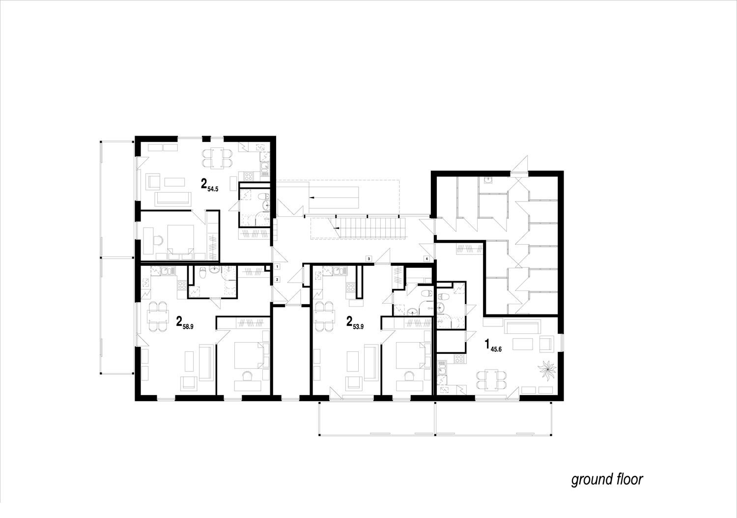6 residential houses in pahkli street jvr Ground floor house plan