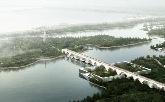 Xi'an Horticulture Expo proposal by Serie Architects