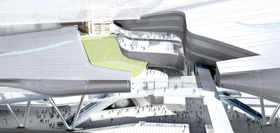 Taipei Performing Arts Center proposal by Morphosis