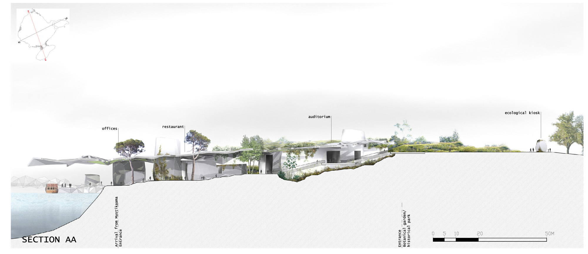 Landscape Architecture Section Drawings this is a nice rendered section. beckmann-n'thépé architects, tn+