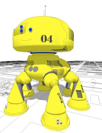 CV08, the suburb-eating robot