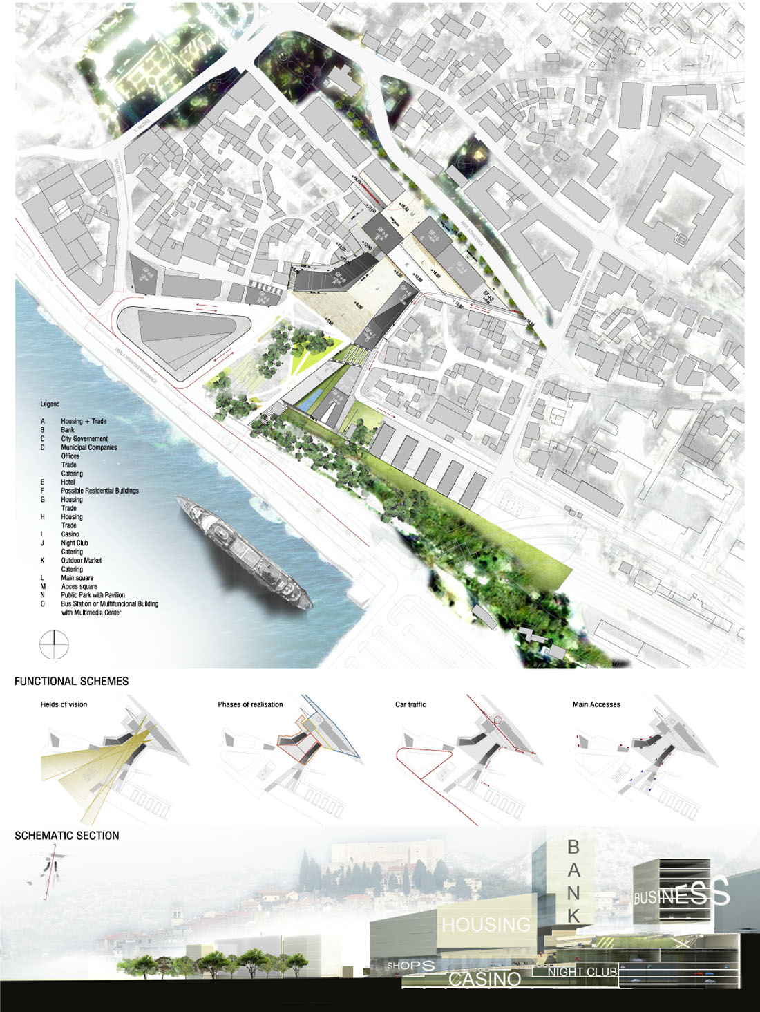 First Prize: Reconstruction of the historical center of Sibenik, Croatia / MAP