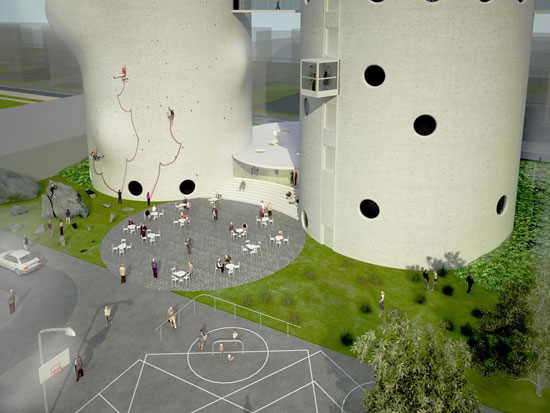 The Silo Competition proposal by NL Architects