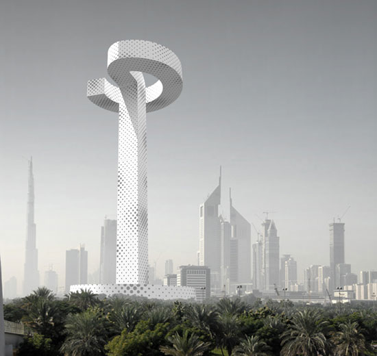 Dubai Tall Emblem Structure / Francois Blanciak Architect