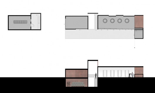 floor plan + section