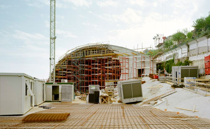 Oscar Niemeyer auditorium under construction