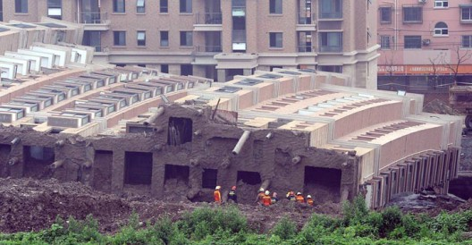 Building collapse in Shanghai