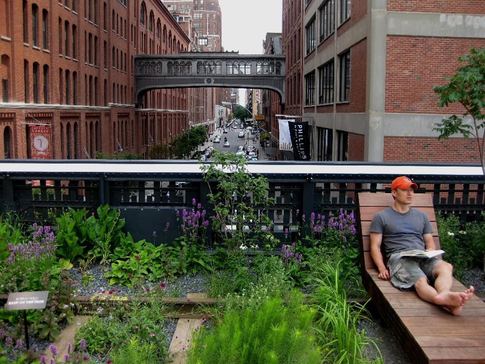 Хай-лайн парк в Нью-Йорке