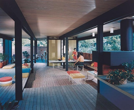 Recreation Pavilion, Mirman Residence, 1959 Arcadia, CA / Buff, Straub and Hensman, architects    Julius Schulman