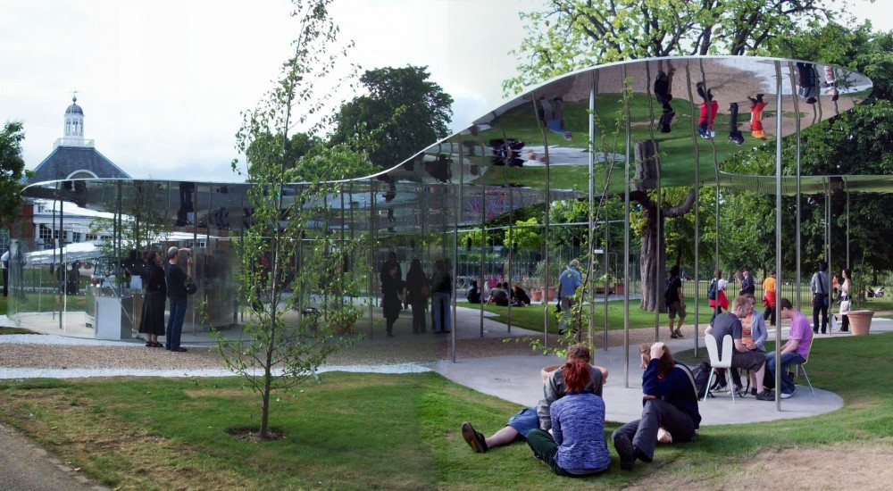 Opening day at the Serpentine Gallery Pavilion 2009
