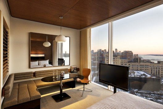 The standard hotel new york polshek partnership for Chambre avec vue