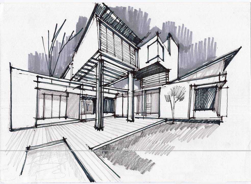 Architecture photography 1250276836 6 concept sketch 32237 for Architecture design drawing