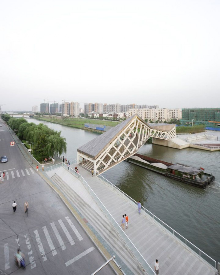 More images of the Quingpu Pedestrian Bridge