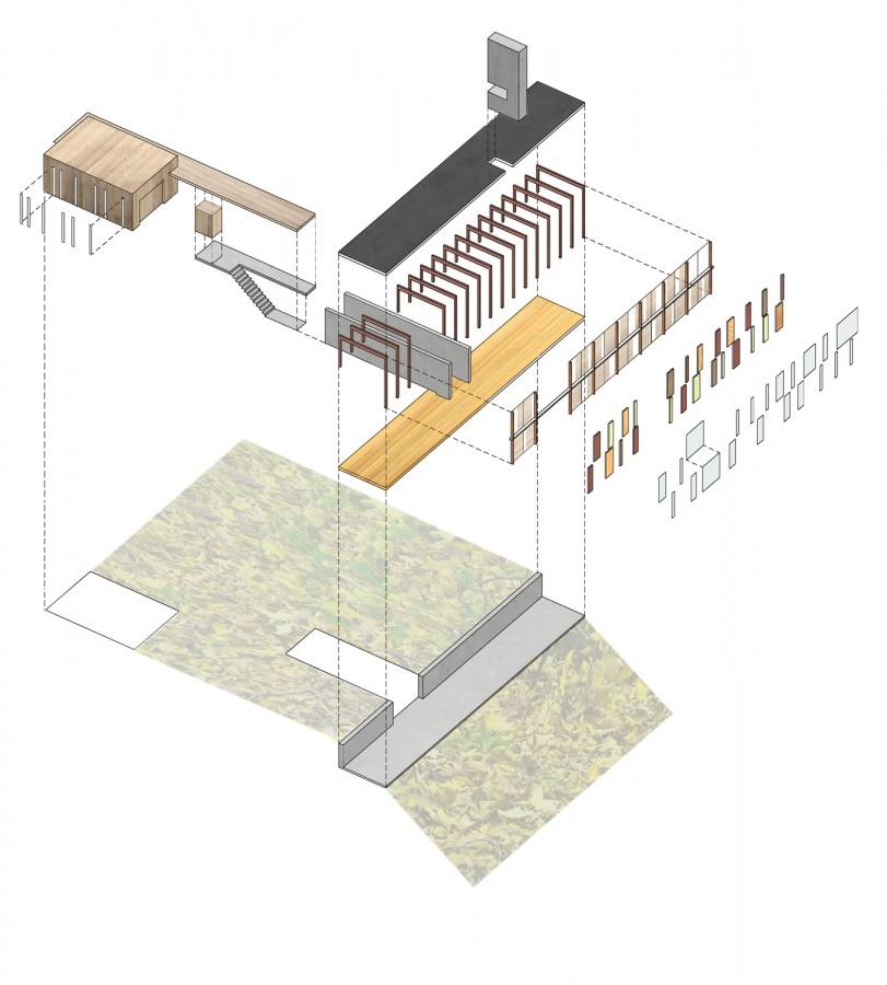 Explosionszeichnung axonometrie for Architektur axonometrie