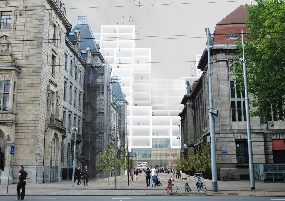 Rotterdam City Hall Competition Proposal by OMA