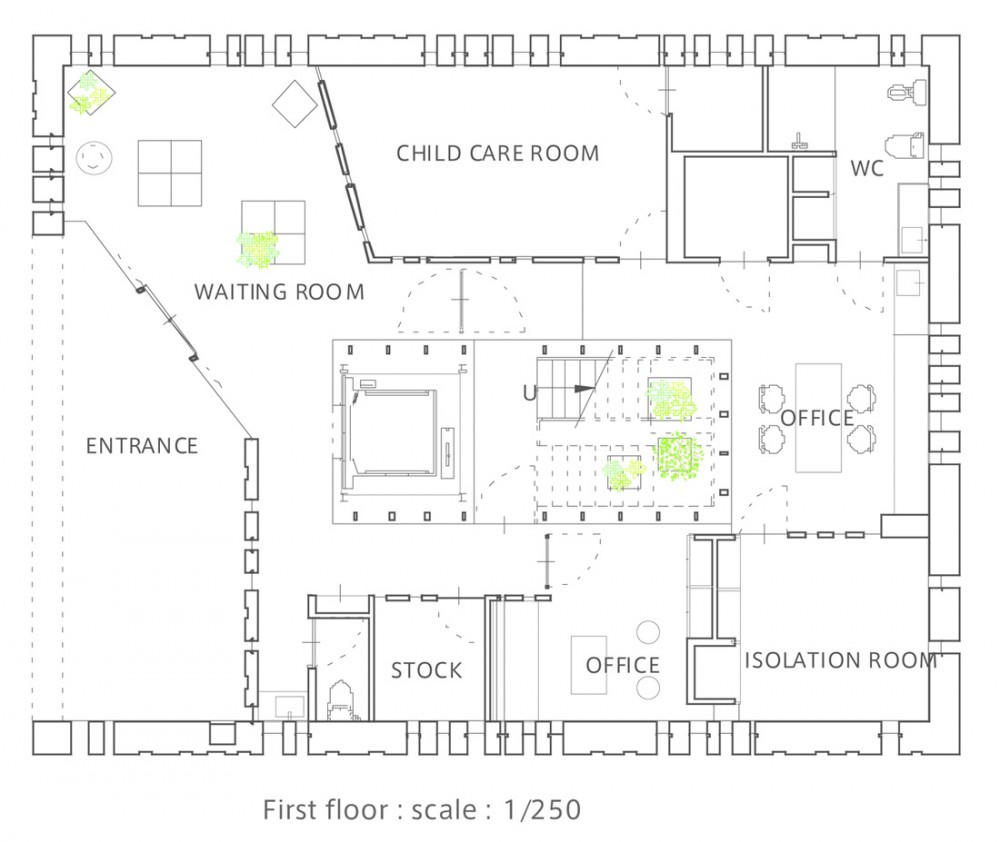 Clinic / Suppose Design Office first floor plan – ArchDaily