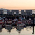 Fishermen warehouses in the port of Cangas / Irisarri + Piera