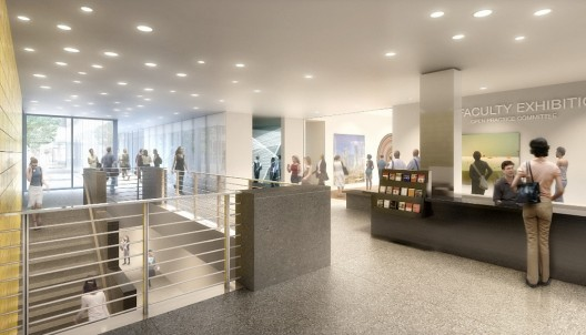 North Lobby and Gallery Entrance, © Tod Williams Billie Tsien