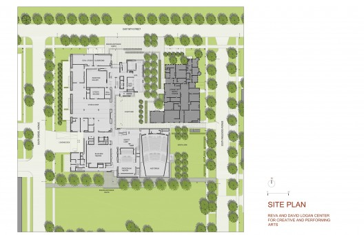 Site plan © Tod Williams Billie Tsien