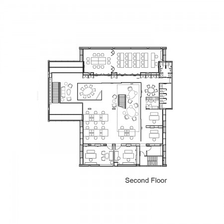 Luxury search text house plans   floor plansThe Hoke House Floor Plan Second Floor Plan