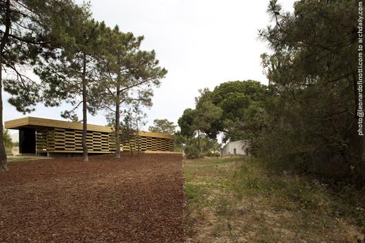 General view of the wooden pavilion © Leonardo Finotti