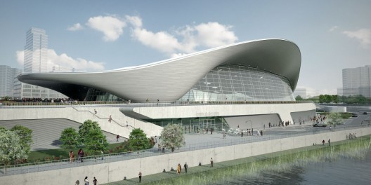 In Progress: Aquatic Center / Zaha Hadid