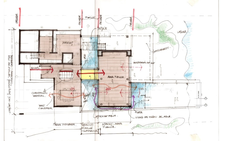 The black house by andr s remy arquitectos housevariety House plan sketch design