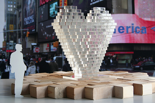 Times Square celebrates Valentine's Day