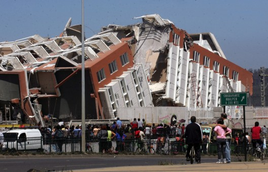 Collapsed building in Concepcion, Chile © AP