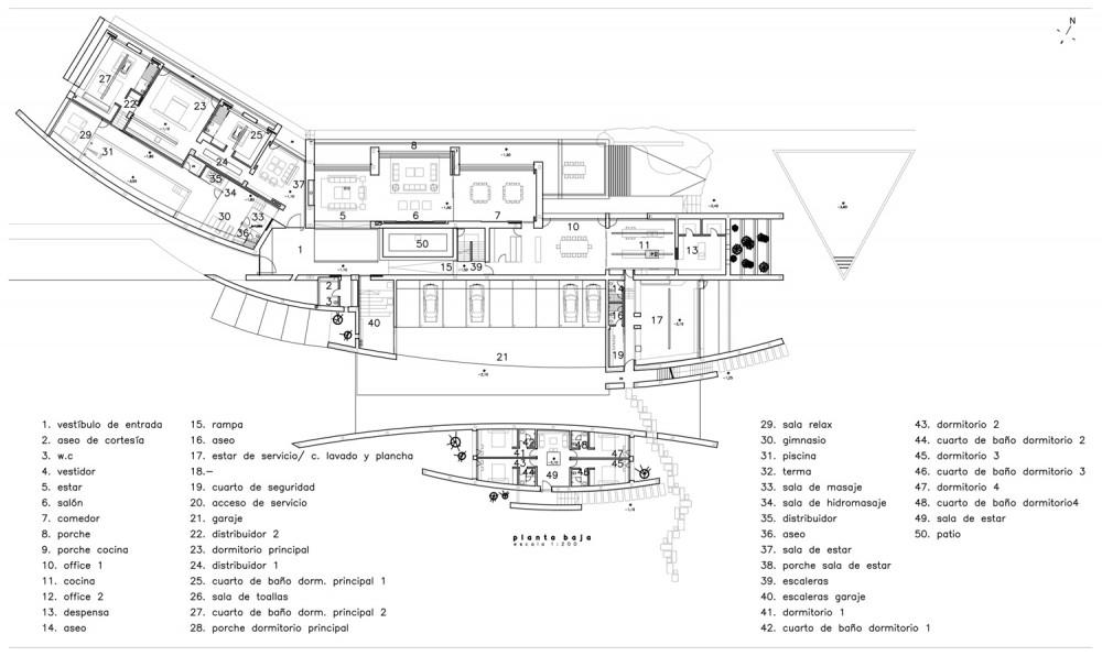 House in Somosaguas - A-cero lower floor plan