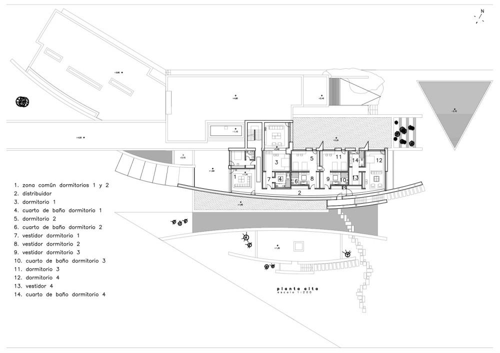 House in Somosaguas - A-cero upper floor plan