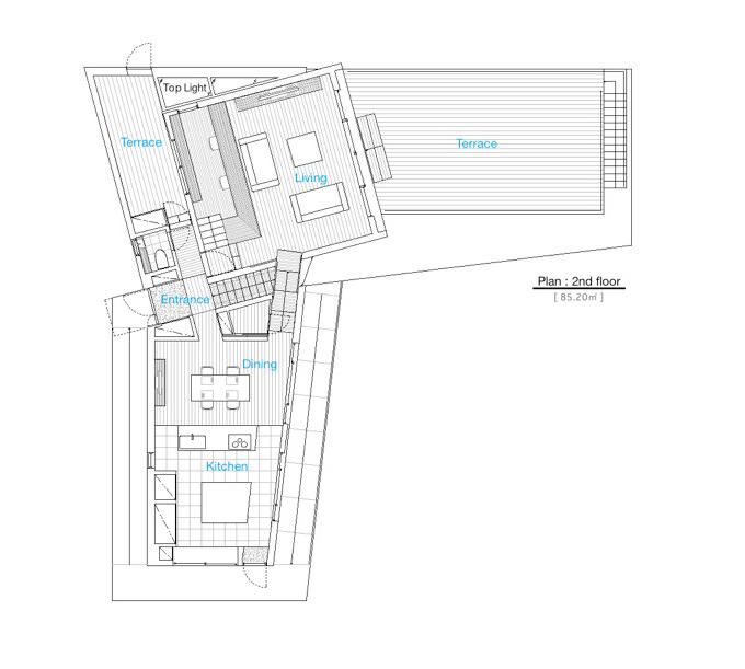 Les Aventuriers - Shun Hirayama Architecture second floor plan
