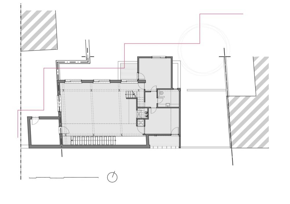 Franken House - Bekhor Architecte second floor plan