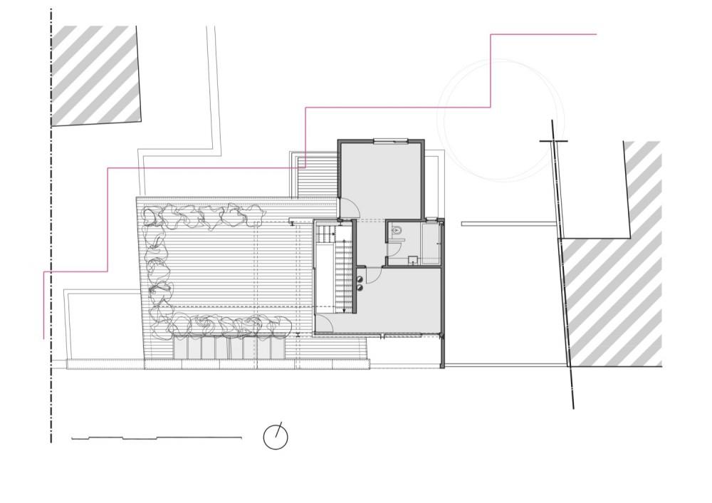 Franken House - Bekhor Architecte third floor plan