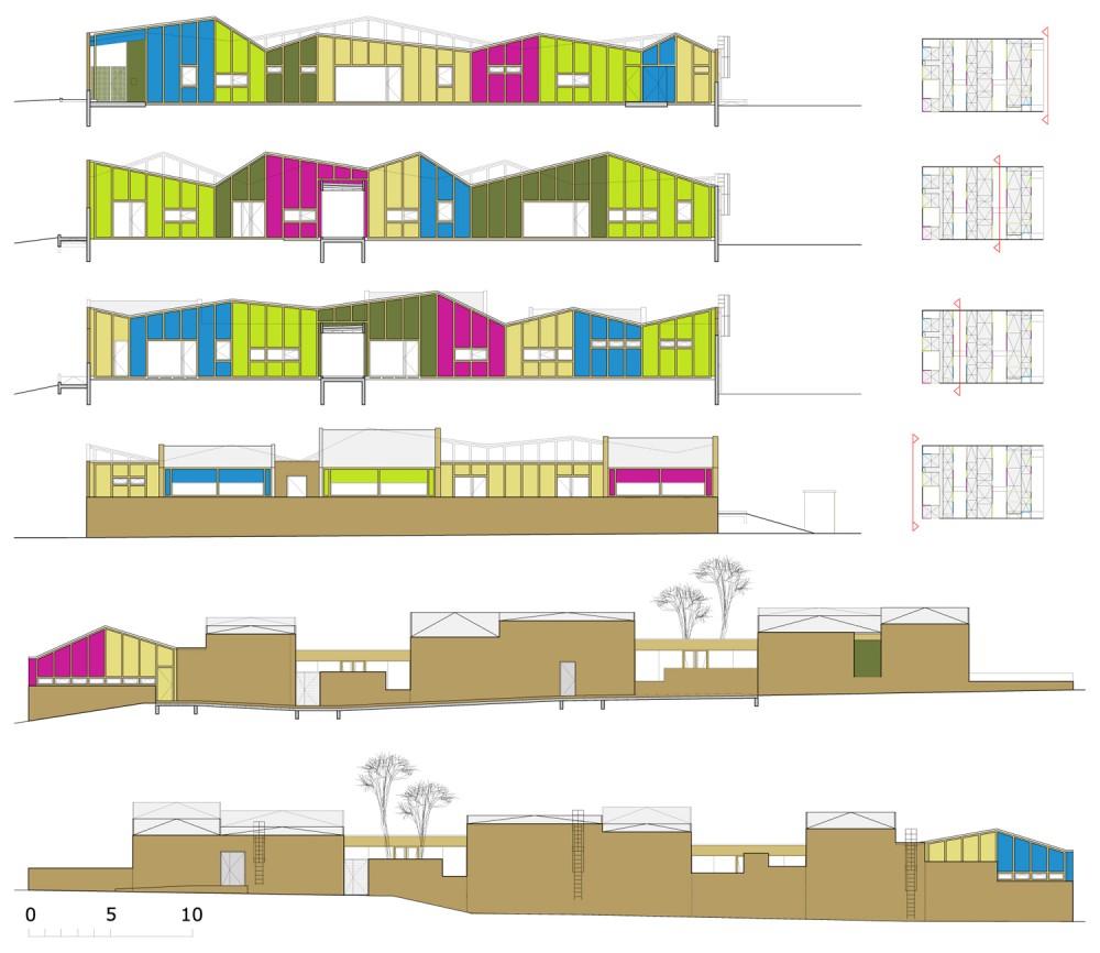 Primary School Plan Elevation : Architecture photography kindergarden epinay nursery