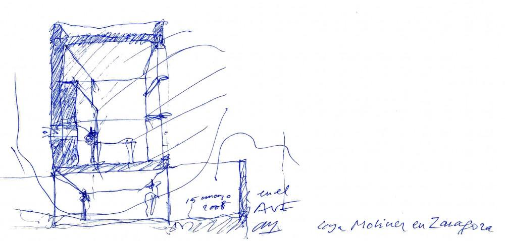 Moliner House - Alberto Campo Baeza sketch