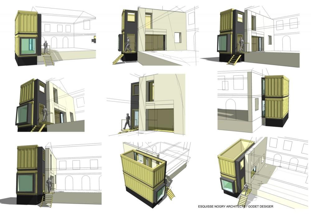 House extension - Christophe Nogry diagrams 01